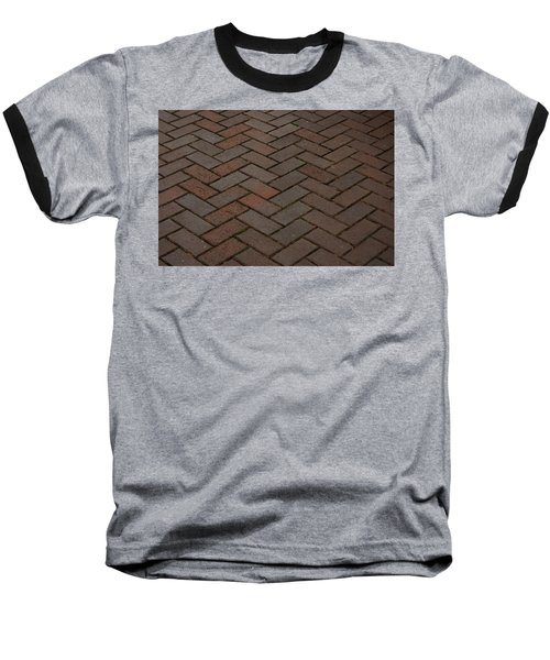 Brick Pattern Baseball T-Shirt