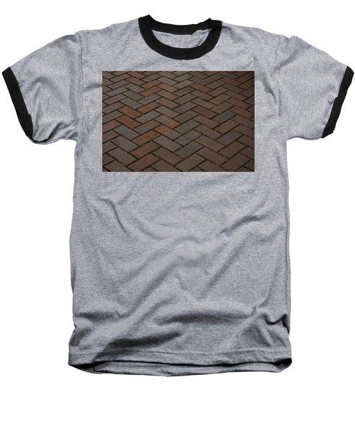 Brick Pattern Baseball T-Shirt by Tikvah's Hope