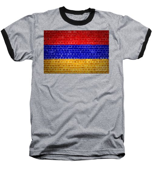 Brick Wall Armenia Baseball T-Shirt