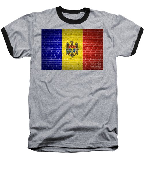 Brick Wall Moldova Baseball T-Shirt