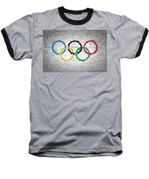 Brick Wall Olympic Movement Baseball T-Shirt