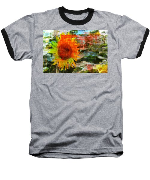 Bricks And Sunflowers Baseball T-Shirt
