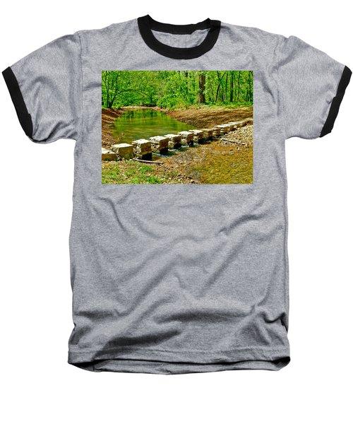 Bridge Across Colbert Creek At Mile 330 Of Natchez Trace Parkway-alabama Baseball T-Shirt