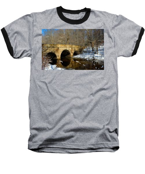Bridge In Woods Baseball T-Shirt