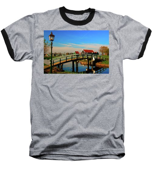 Bridge Over Calm Waters Baseball T-Shirt by Jonah  Anderson