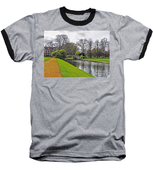 Bridge Over River Cam Baseball T-Shirt