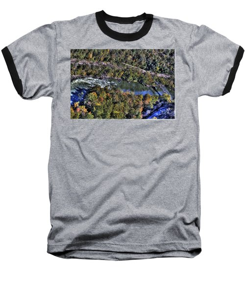 Bridge Over River Baseball T-Shirt