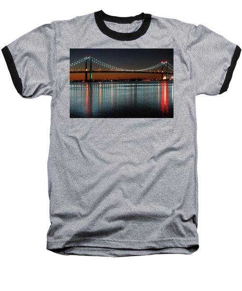 Suspended Reflections Baseball T-Shirt by James Kirkikis