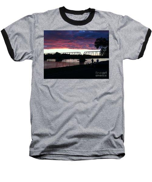 Bridge Sunset In June Baseball T-Shirt