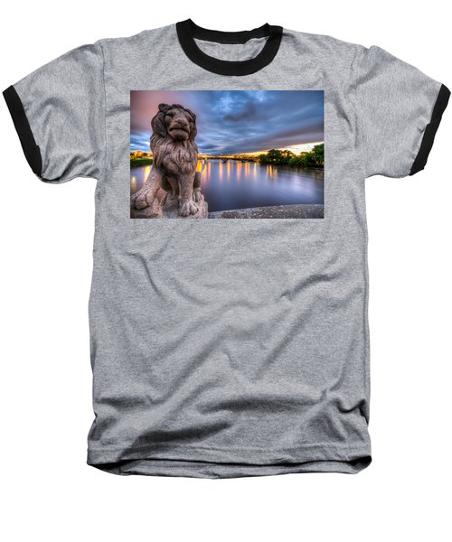 Bridge To Czech Village In Cedar Rapids At Sunset Baseball T-Shirt