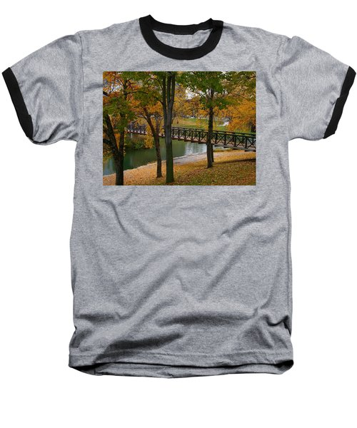 Baseball T-Shirt featuring the photograph Bridge To Fall by Elizabeth Winter