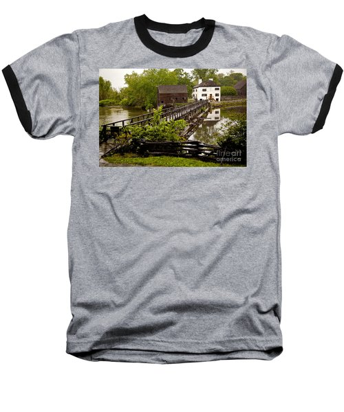 Baseball T-Shirt featuring the photograph Bridge To Philipsburg Manor Mill House by Jerry Cowart