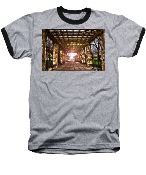Baseball T-Shirt featuring the photograph Bridge To The Light From The Series The Imprint Of Man In Nature by Verana Stark