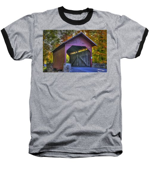 Bridge To The Past Roddy Road Covered Bridge-a1 Autumn Frederick County Maryland Baseball T-Shirt