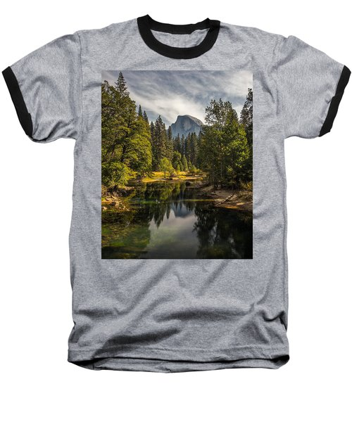 Bridge View Half Dome Baseball T-Shirt by Peter Tellone