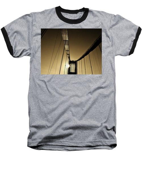 Bridge Work Baseball T-Shirt by Robert Geary