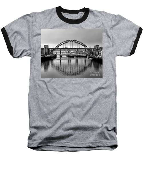 Bridges Over The River Tyne Baseball T-Shirt by Lynn Bolt