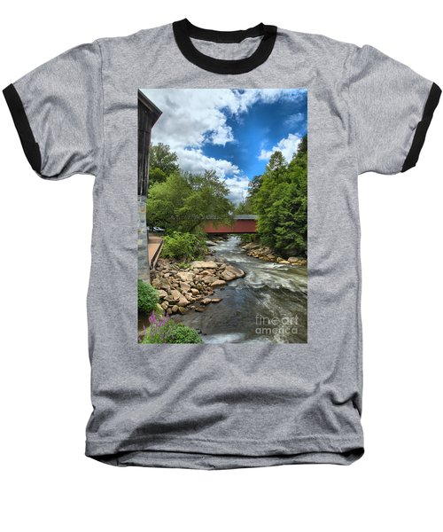 Bridging Slippery Rock Creek Baseball T-Shirt