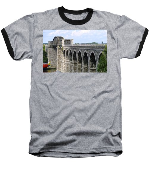 Bridging The Boyne Baseball T-Shirt by Charlie and Norma Brock