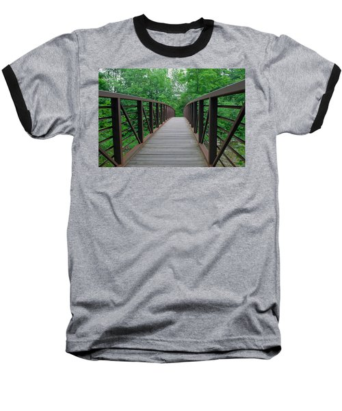 Bridging The Gap Baseball T-Shirt by Lisa Phillips