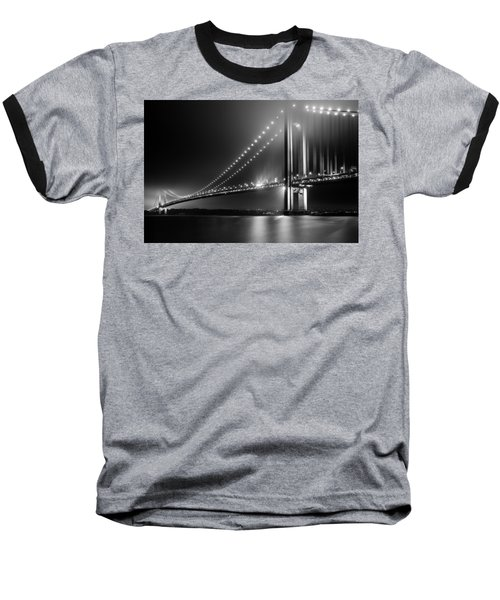 Bridging Verrazano Narrows Baseball T-Shirt