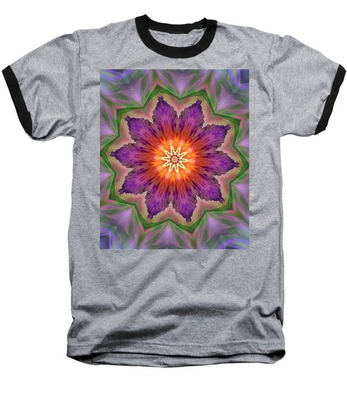 Baseball T-Shirt featuring the digital art Bright Flower by Lilia D