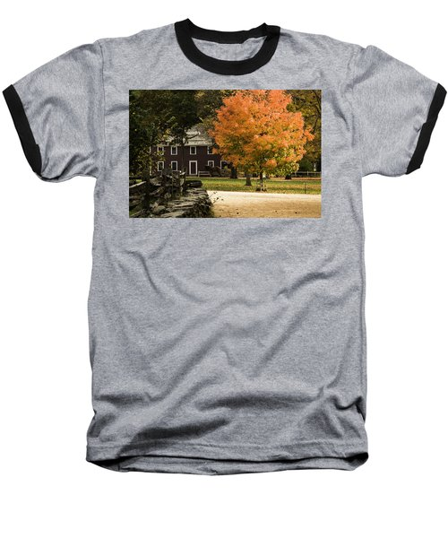 Baseball T-Shirt featuring the photograph Bright Orange Autumn by Jeff Folger