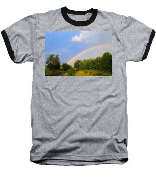 Baseball T-Shirt featuring the photograph Bright Rainbow by Kathryn Meyer
