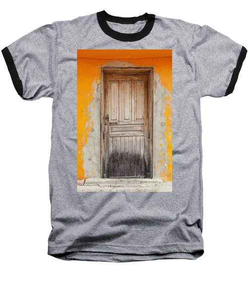 Brightly Colored Door And Wall Baseball T-Shirt