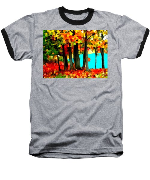 Brightness In The Forest Baseball T-Shirt by Bruce Nutting