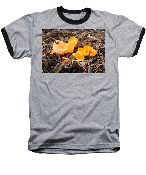 Baseball T-Shirt featuring the photograph Brilliance In Orange by Cheryl Hoyle