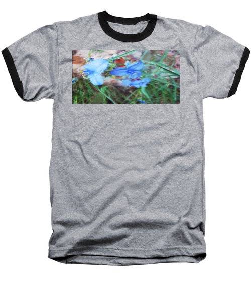 Baseball T-Shirt featuring the photograph Brilliant Blue Flowers by Cathy Anderson