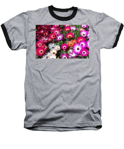 Brilliant Flowers Baseball T-Shirt by Chalet Roome-Rigdon