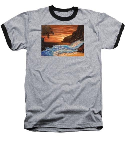 Brilliant Hawaiian Sunset 1 Baseball T-Shirt by Jenny Lee