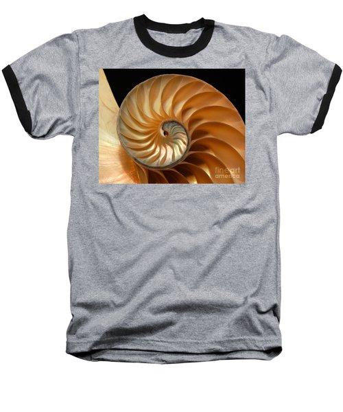 Brilliant Nautilus Baseball T-Shirt by Phil Cardamone