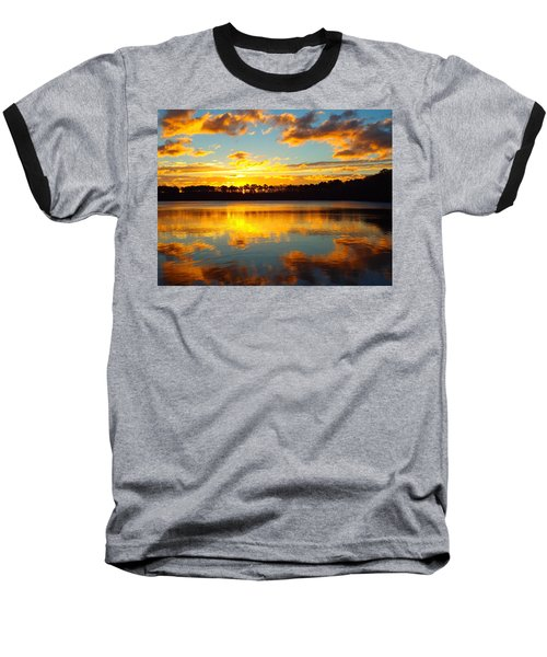 Brilliant Sunrise Baseball T-Shirt by Dianne Cowen