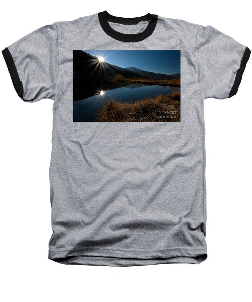 Brilliant Sunrise Baseball T-Shirt by Steven Reed