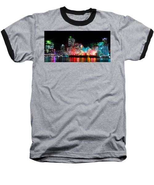 Brisbane City Of Lights Baseball T-Shirt