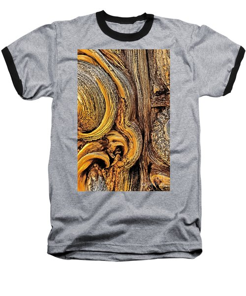 Baseball T-Shirt featuring the photograph Bristlecone Pine Bark Detail White Mountains Ca by Dave Welling