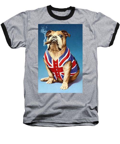 British Bulldog Baseball T-Shirt by Andrew Farley