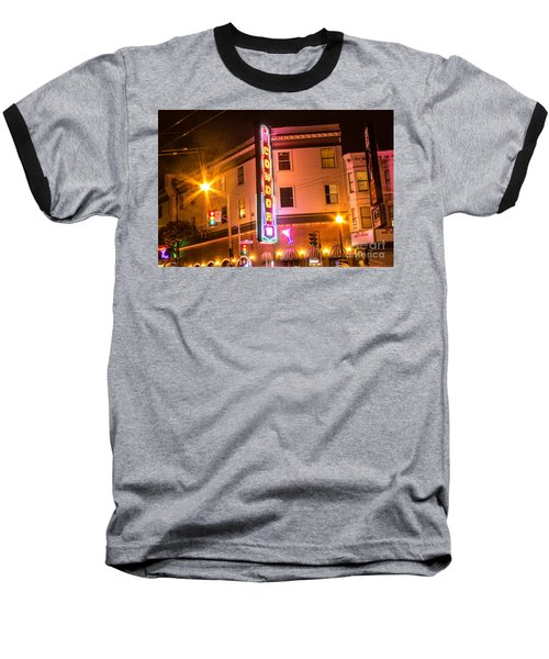 Baseball T-Shirt featuring the photograph Broadway At Night by Suzanne Luft