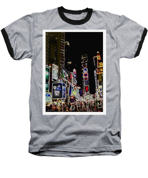 Broadway Baseball T-Shirt by Joan  Minchak