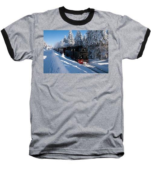 Brockenbahn Baseball T-Shirt by Andreas Levi