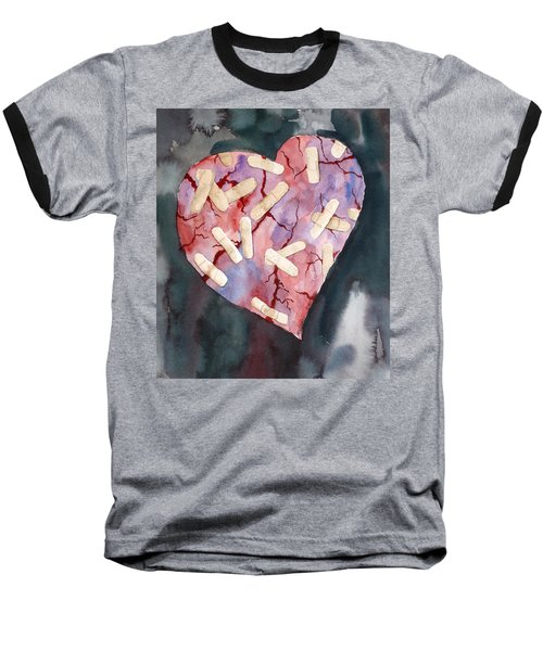 Broken Heart Baseball T-Shirt
