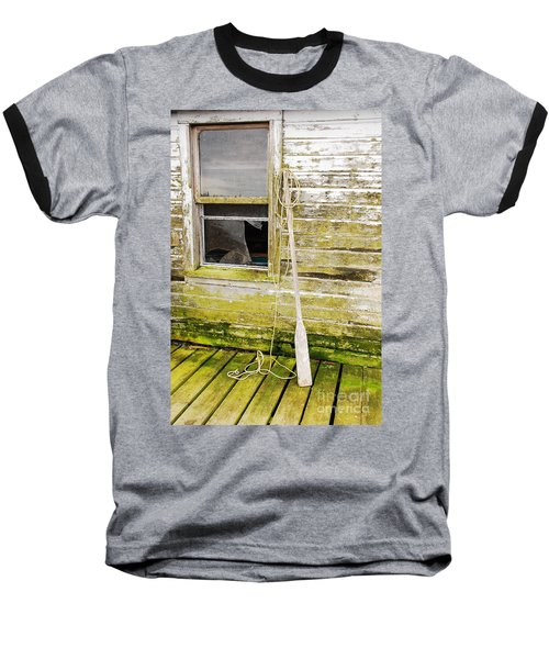 Baseball T-Shirt featuring the photograph Broken Window by Mary Carol Story