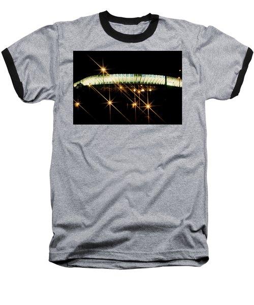 Baseball T-Shirt featuring the photograph Bronx Night  Iv Yankee Stadium by Iconic Images Art Gallery David Pucciarelli