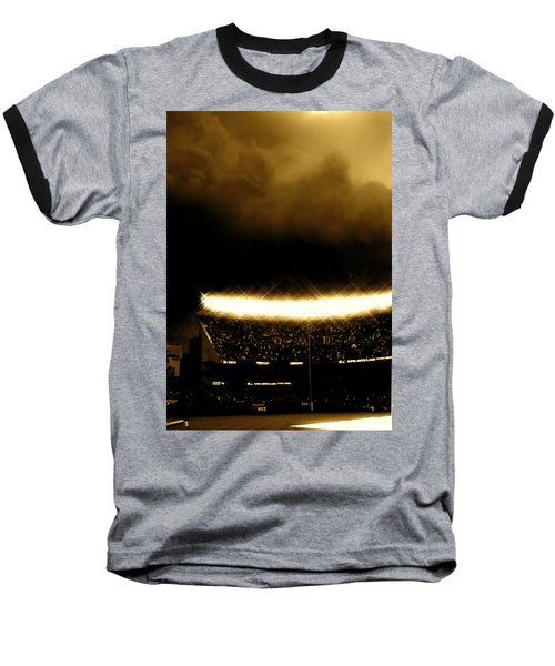 Baseball T-Shirt featuring the tapestry - textile Bronx Storm Yankee Stadium  by Iconic Images Art Gallery David Pucciarelli
