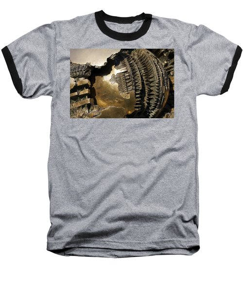 Bronze Abstract Baseball T-Shirt