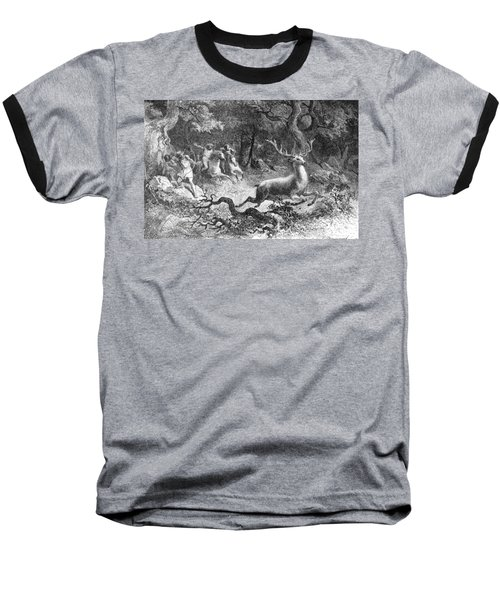 Baseball T-Shirt featuring the photograph Bronze Age, Hunting Scene by British Library