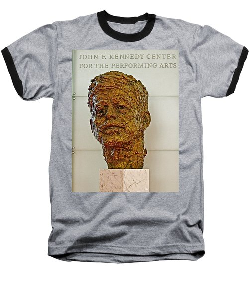Bronze Sculpture Of President Kennedy In The Kennedy Center In Washington D C  Baseball T-Shirt